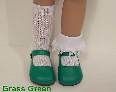 """Debs LIME GREEN Classic SM Doll Shoes For Sonja Hartmann 18/"""" Kidz n Cats"""