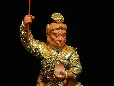 Large Sun Wukong 大圣佛祖 Taoist / Daoist Deity The Monkey King Hand Carved Wood