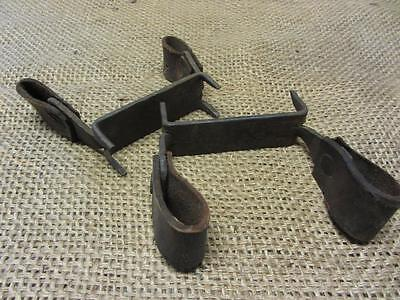 Vintage Hand Forged Iron Ice Shoes Cleats > Old Antique Ice Fishing Lake 9327