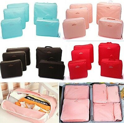 5PCS Travel Organizer Bag Clothes Pouch Portable Storage Case Suitcase Luggage