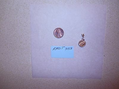 1945 Dos Pesos Mexican Gold Coin Pendant in Sterling Silver (.925) Bezel