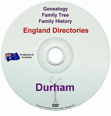 Family History Tree Genealogy Directories Post Office Trades Durham New DVD