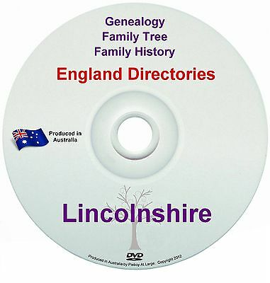 Family History Tree Genealogy Directories Post Office Trades Lincolnshire DVD