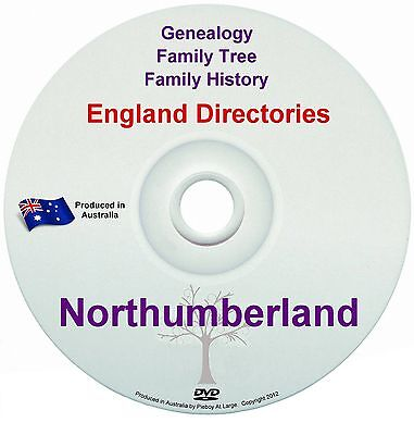 Family History Tree Genealogy Directories Post Office Trades Northumberland DVD