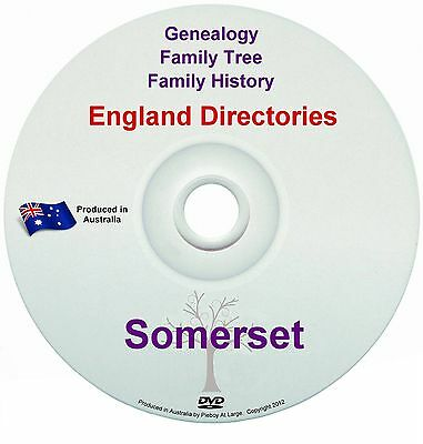 Family History Tree Genealogy Directories Post Office Trades Somerset New DVD