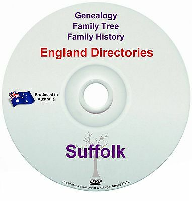 Family History Tree Genealogy Directories Post Office Trades Suffolk New DVD