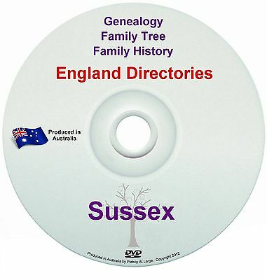 Family History Tree Genealogy Directories Post Office Trades Sussex New DVD
