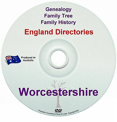 Family History Tree Genealogy Directories Post Office Trades Worcestershire DVD