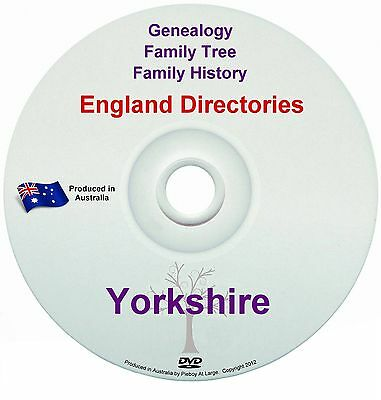Family History Tree Genealogy Directories Post Office Trades Yorkshire DVD New
