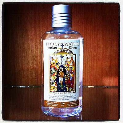 Jordan River HOLY WATER Blessed Jesus Baptismal Site Authentic Holy Land 250 Ml