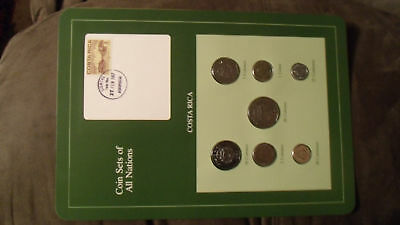 Coin Sets of All Nations Costa Rica w/card 1983 - 1984 UNC