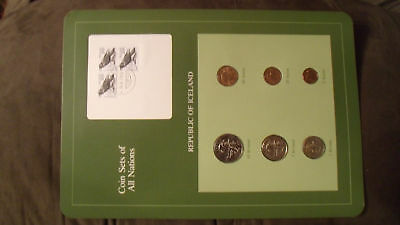 Coin Sets of All Nations Iceland w/card 1981 Aurar & 1984 Kronur UNC