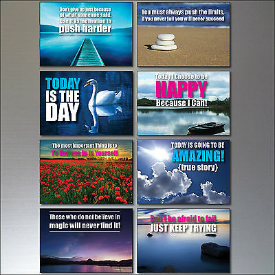 Set 0f 8 Motivational and inspirational quotes Fridge Magnets No.1