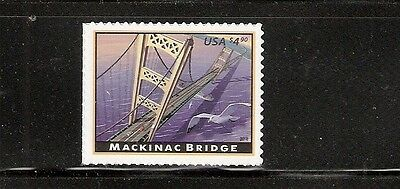2010 #4438 $4.90 Mackinac Bridge Priority Mail MNH