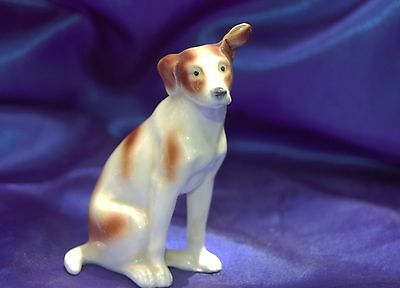 Vintage Porcelain Germany Norco Smooth Fox Terrier dog Lovely w personality!