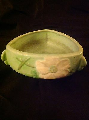 Vintage 1930S Weller Pottery Wild Rose Console Bowl