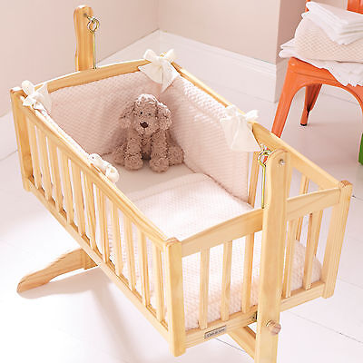 New Clair De Lune Honeycomb Cream Rocking Crib Universal Quilt And Bumper  Set
