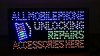 Led Flashing Mobile Phone Unlocking Repair Accessories Tablet Iphone Shop Sign