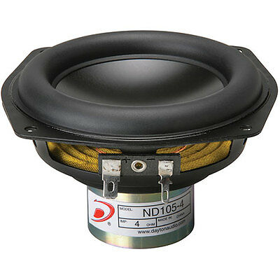 "Dayton Audio ND105-4 4"" Aluminum Cone Midbass Driver 4 Ohm"
