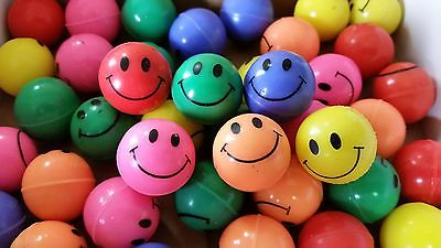 200 - New Smiley Face High Bounce Balls - Super Color - 27mm  Party Vending Kids