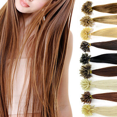 100x meche extension Cheveux 100% naturel remy hair 45cm pose a chaud perruque