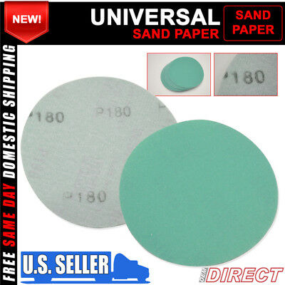 X10 Wet Dry Green Body Repair Sand Paper Bumper Sanding Disc 180 Grit 5 Inch Psa