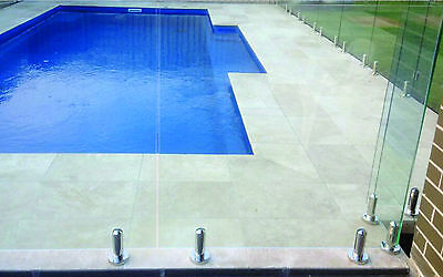 GLASS POOL FENCE FRAMELESS POOL FENCING 1400mm*1200mm 12mm HEAT SOAKED TOUGHENED