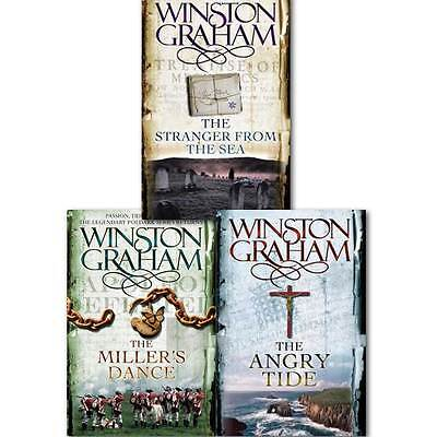 Winston Graham Poldark Series Trilogy Books 7, 8, 9, Collection 3 Books Set