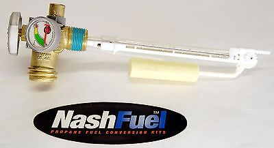 20Lb Propane Grill Tank Service Valve With Gauge Coupler Opd Bbq Overfill Qcc Lp