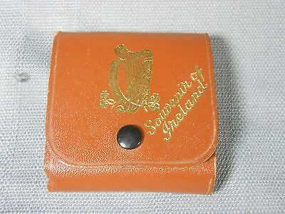 Vintage Rare Souvenir Playing Cards Of Ireland in brown case