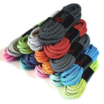 Knotz® Reflective Rope Laces 6mm Sports Trainer Jogging Shoelaces Bootlaces UK