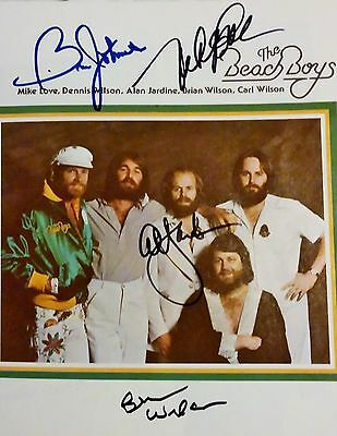 Fully signed BEACH BOYS Program AUTOGRAPHED by Brian, Al, Mike, Bruce VERY RARE!