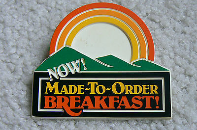Wendy's Badge - NOW Made To Order BREAKFAST -  Vintage - 1970's -1980's ?