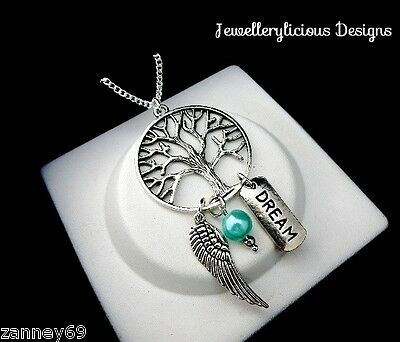 Beautiful Silver Tree Of Life Dream Catcher Dream Charm Pendant Necklace