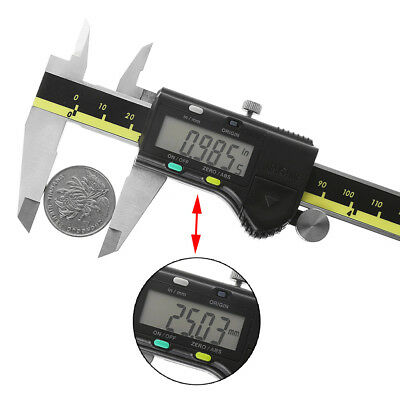 Electronic Digital LCD Gauge Stainless Vernier Caliper Micrometer 150mm 6 inch