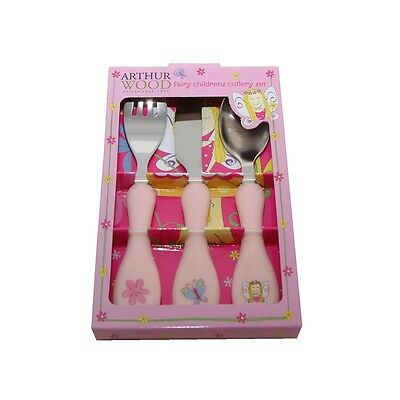 Children's 3 piece Fairy Cutlery Set of Knife Fork & Spoon by Arthur Wood