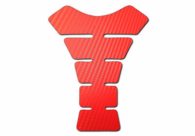 Motorbike Tank Pad Protector Motorcycle Scratch Pad - Red Carbon Fibre Effect
