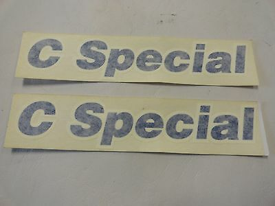 """OF DECAL BLUE SILVER 18/"""" x 2 1//4/"""" MARINE BOAT 2 GLASTRON 5572599 PAIR"""