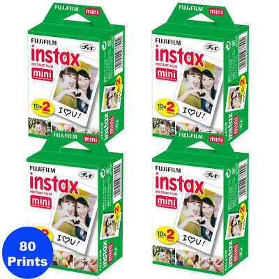 80 Sheets Fujifilm Instax Mini Instant Film for Fuji 9, 8, 90, 70 & Pol Mini 300