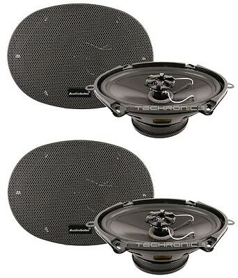 """2 X Pair Audiobahn Ams680H 6X8"""" / 5X7"""" 190W Murdered Out Car Audio Speakers"""