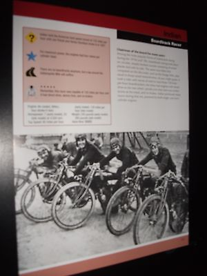 RACER ~ Indian Boardtrack Motorcycle Bike Print Article Fact Sheet!