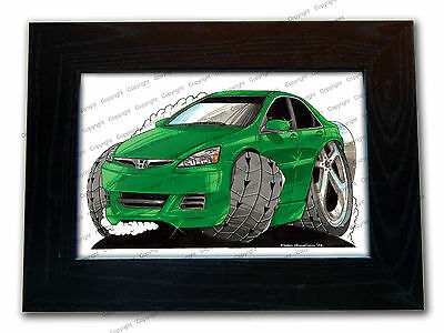HONDA ACCORD Sports Car Official Koolart Quality Glass Framed Picture 3 FOR 2