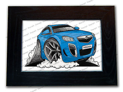 VAUXHALL INSIGNIA VXR New Shape Official Koolart Quality Glass Framed Picture