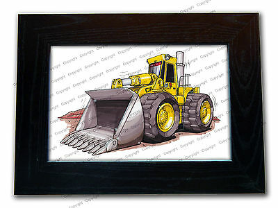 CATERPILLAR DIGGER Official Koolart Quality Glass Framed Picture 3 FOR 2