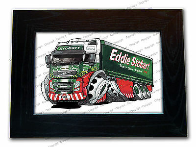 EDDIE STOBART LORRY Official Koolart Quality Glass Framed Picture 3 FOR 2
