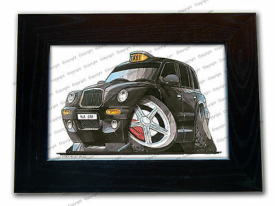 LONDON BLACK TAXI CAB Official Koolart Quality Glass Framed Picture 3 FOR 2