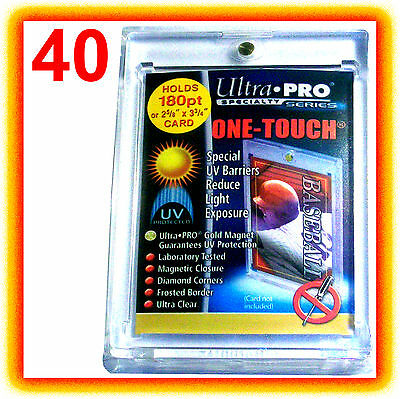 40 Ultra Pro ONE TOUCH MAGNETIC 180pt UV Card Holder Case 82233-UV Vintage Sport