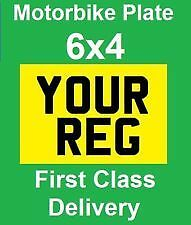 6x4 number plate small motorbike plate motor cycle bike show plate.