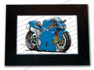 DUCATI 998 Motorbike Official Koolart Quality Glass Framed Picture 3 FOR 2