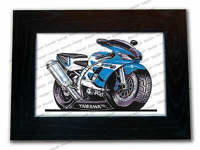 YAMAHA R6 Motorbike Official Koolart Quality Glass Framed Picture 3 FOR 2